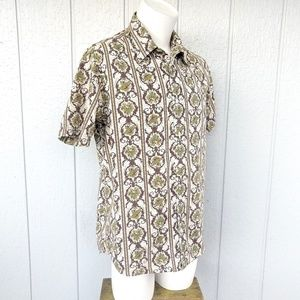 Lucky Brand Retro Cotton Short Sleeve Shirt EUC